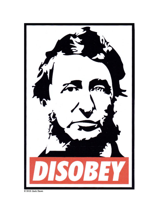 Disobey Thoreau